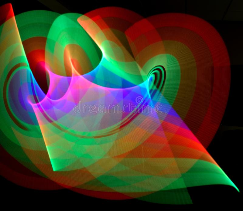 Abstract Light Ribbon Trails stock photography