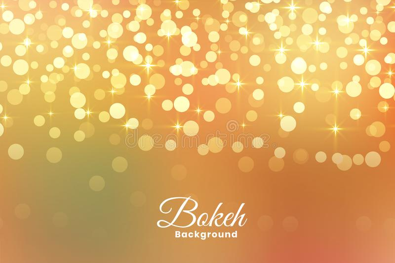 Abstract light shimmer golden background royalty free illustration