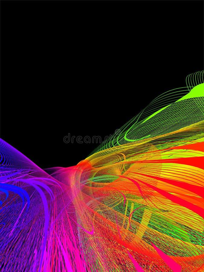 Abstract light show stock illustration
