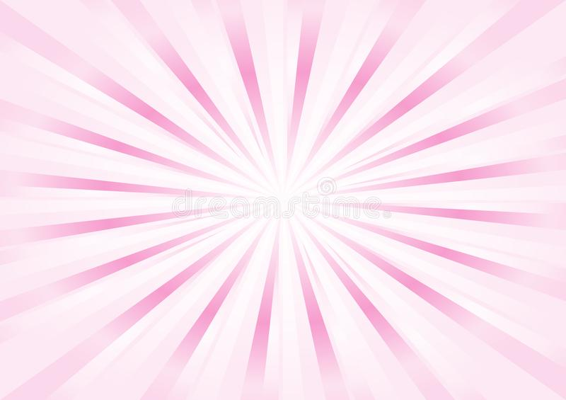 Abstract light soft Pink rays background. Vector stock illustration