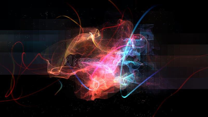 Abstract light streak background royalty free illustration