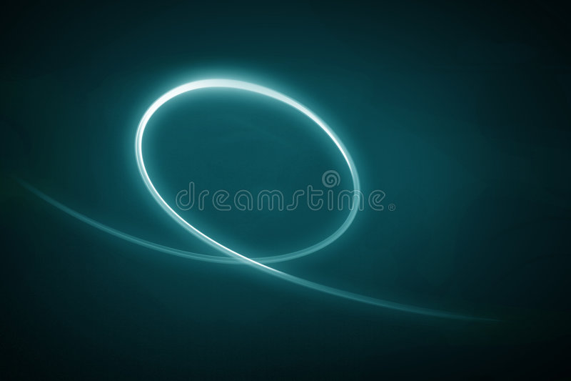 Abstract Light Swoosh. Glowing abstract light swoosh with dark background. See other images for series royalty free stock photo