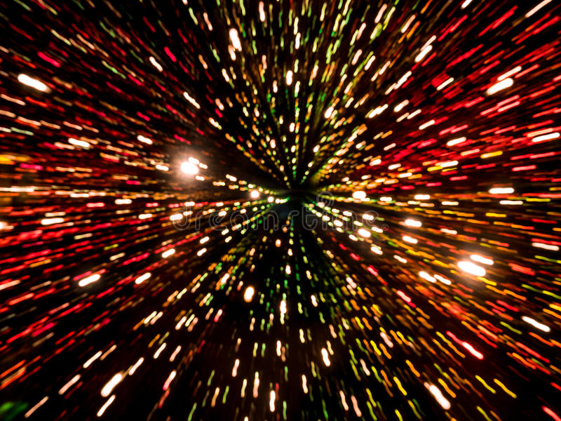 Abstract light trails bokeh. Picture of colorful random abstract light trails bokeh royalty free stock images