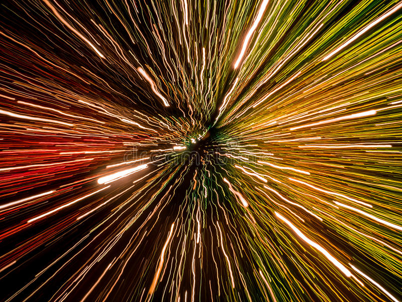 Abstract light trails bokeh. Picture of colorful random abstract light trails bokeh royalty free stock photography