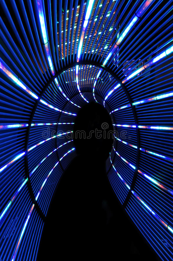 Abstract light tunnel royalty free stock photos