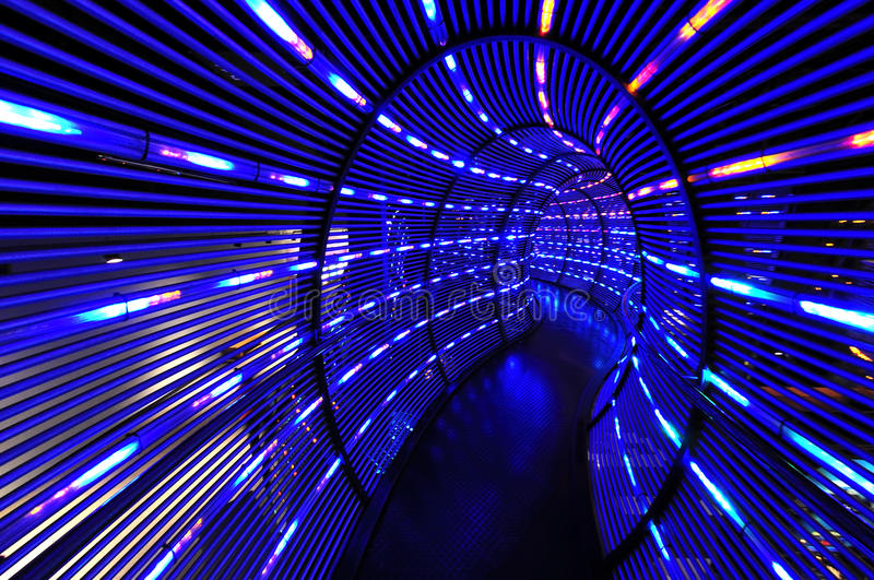 Abstract light tunnel. Abstract tunnel of blue lights