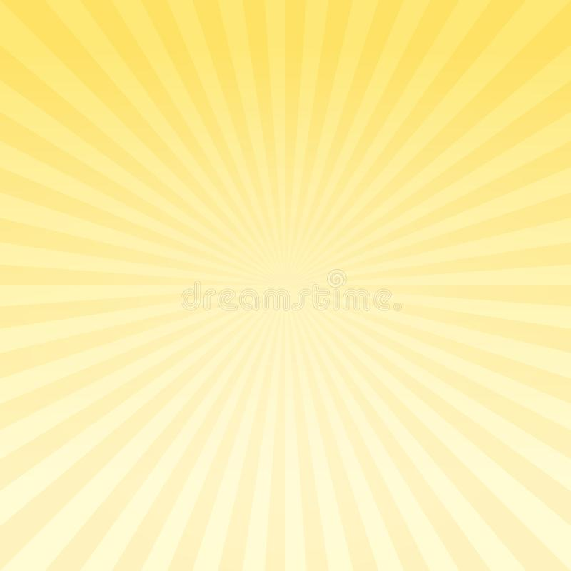 Abstract light Yellow gradient rays background. Vector EPS 10 cmyk stock illustration