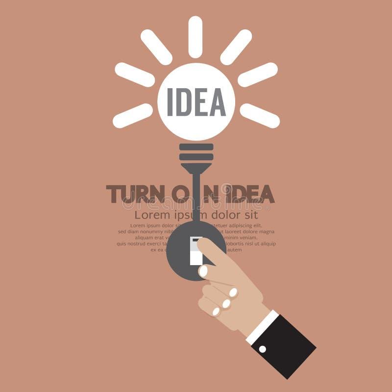 Abstract Lightbulb Turn On Idea Concept Creativity stock illustration