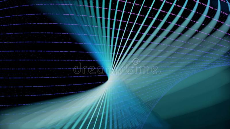 Abstract Lighting moving color line. Animation. Technology network digital data transfer concept design, glowing on. Black background seamless looping animation vector illustration