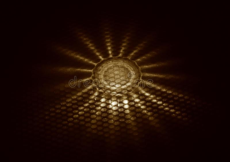 Abstract lighting object background photograph. The beautiful abstract object with star shape lights rays isolated stock photograph royalty free stock image