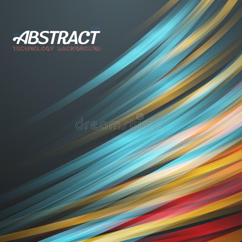 Abstract Lightpainting Vector Background. Illustration of Abstract Lightpainting Vector Background. Digital Caligraphy Light Streaks. Vector Neon Disco Light stock illustration