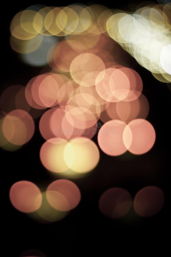 Abstract of lights. Abstract circular bokeh of lights royalty free stock photo