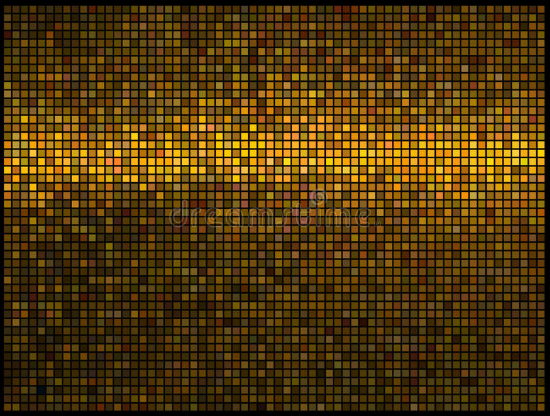 Abstract lights gold disco background stock illustration