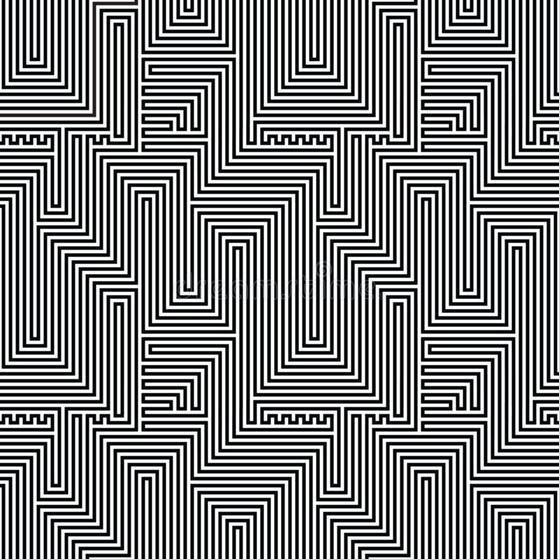 Abstract lijnen naadloos patroon Optische illusie stock illustratie