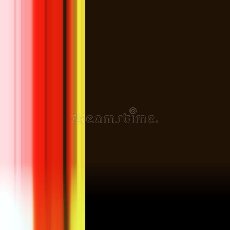 Abstract lijnontwerp in rode en bruine tinten vector illustratie