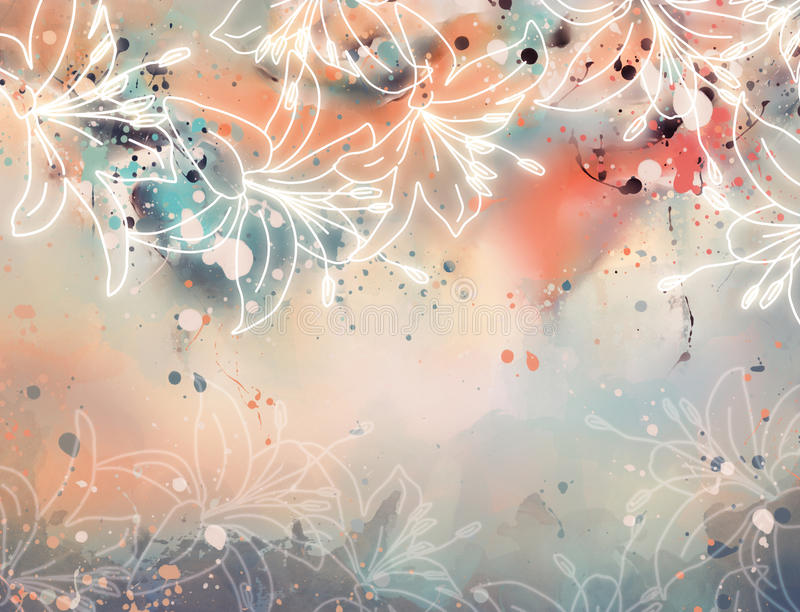 Abstract lily stock illustration