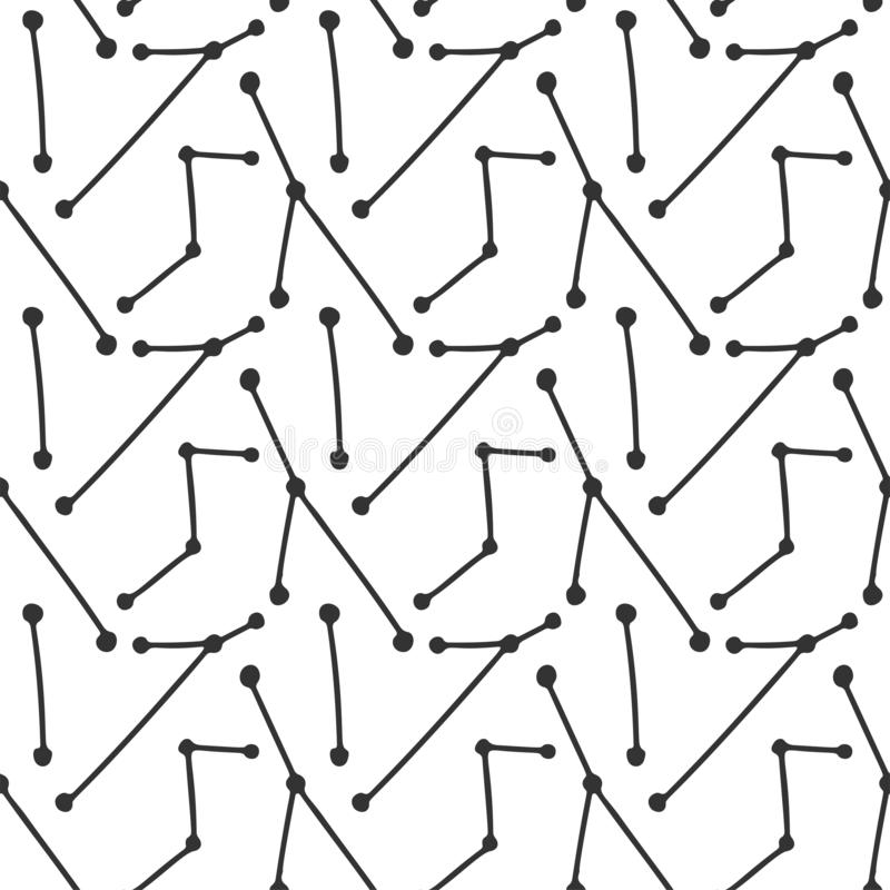 Abstract line art, vector concept in doodle style. Hand drawn illustration for printing on T-shirts, postcards. Seamless pattern for textile, paper wrap stock illustration