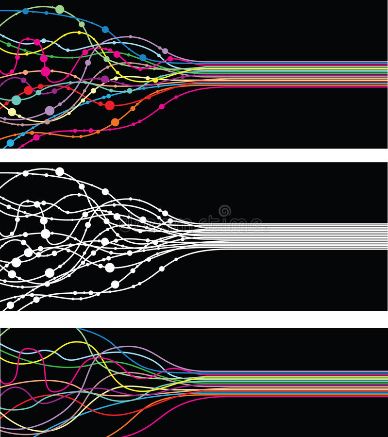 Abstract line banner vector illustration