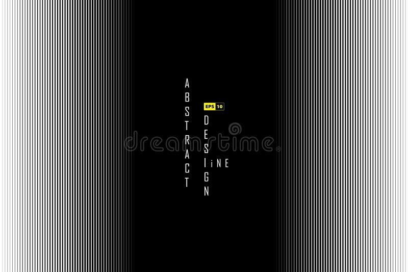 Abstract line black and white design of halftone decoration. illustration vector eps10 stock illustration