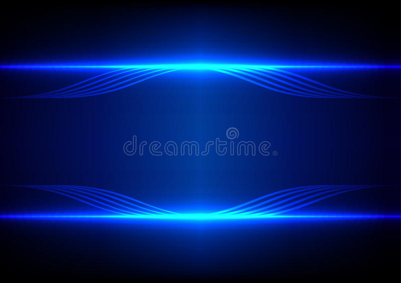 Abstract Technology Background With Light Effect: Abstract Line Blue Light Effect Background Stock Vector