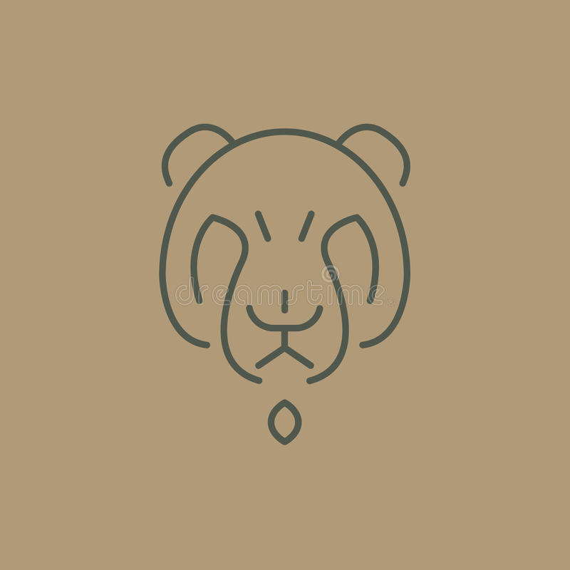download abstract line drawing of bear head stock vector image 68568696
