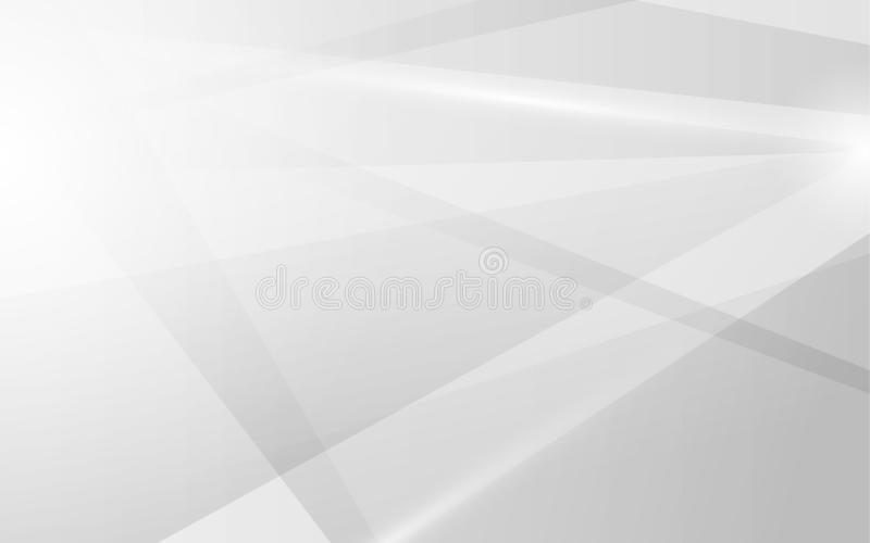 Abstract line gradient white and grey future trendy banner background. Illustration vector stock illustration