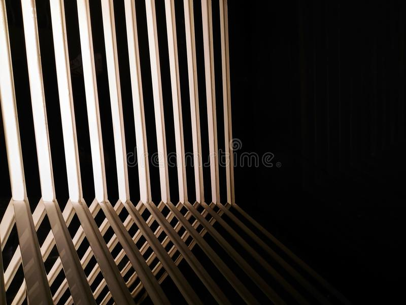 Abstract line of shadow light and mirror reflection. Fade stock image