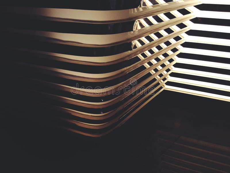 Abstract line of shadow light and mirror reflection. Fade stock photography