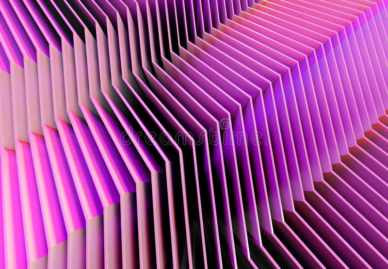 Abstract line texture background 3D rendering stock illustration