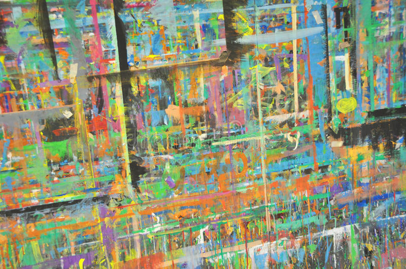 Abstract linear colors. Wild abstract colors in linear composition stock image