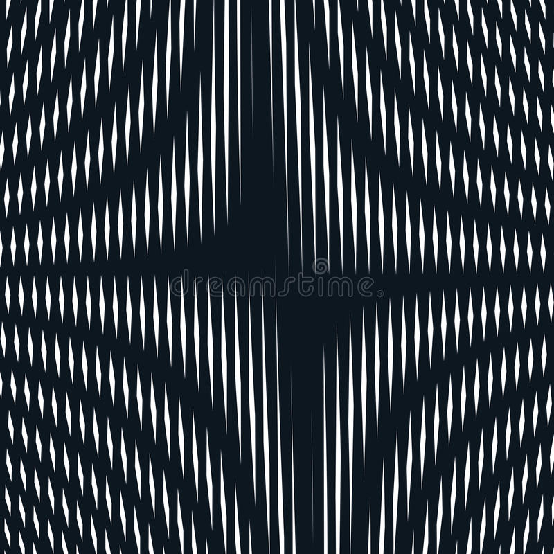 Abstract lined background, optical illusion style. Chaotic lines vector illustration