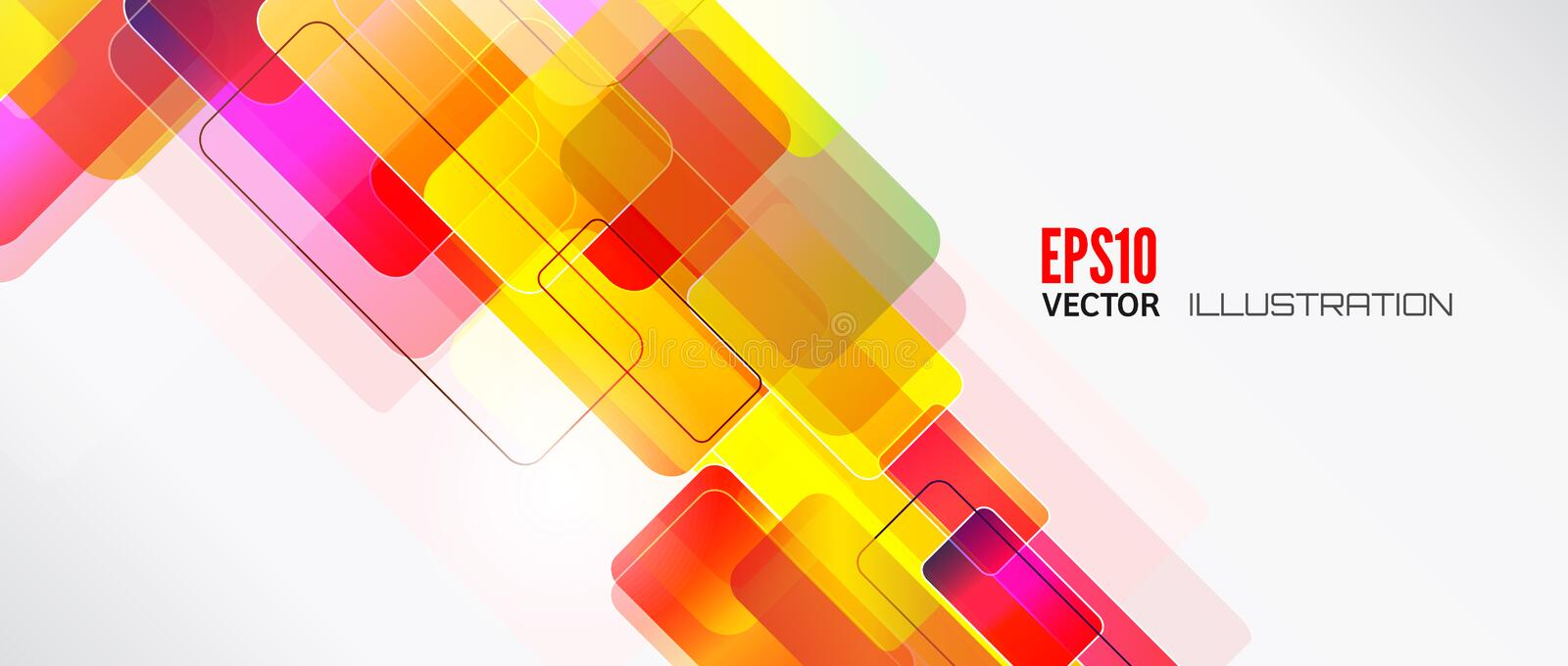 Abstract lines background with colored elements. Banner. Lines, wave. vector illustration
