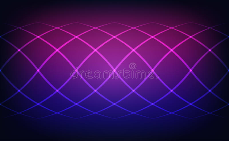 Abstract lines blue and magenta lights background stock illustration