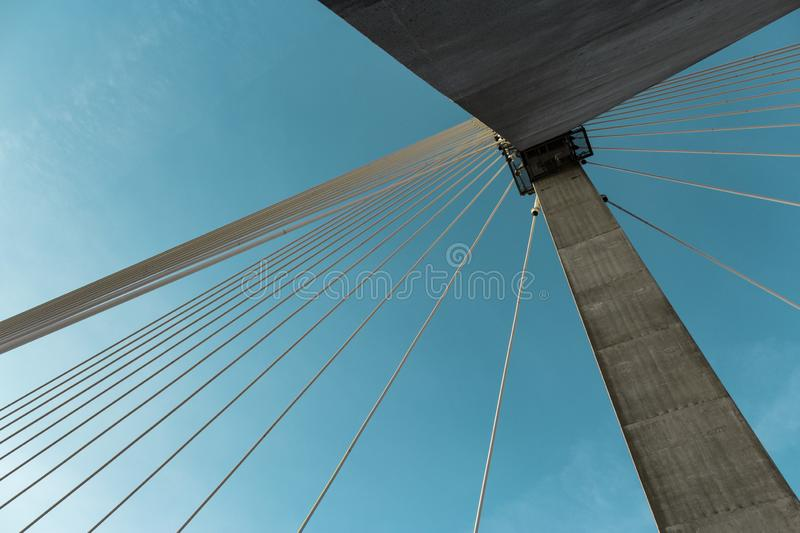 Abstract lines. Bridge. Most. royalty free stock photos