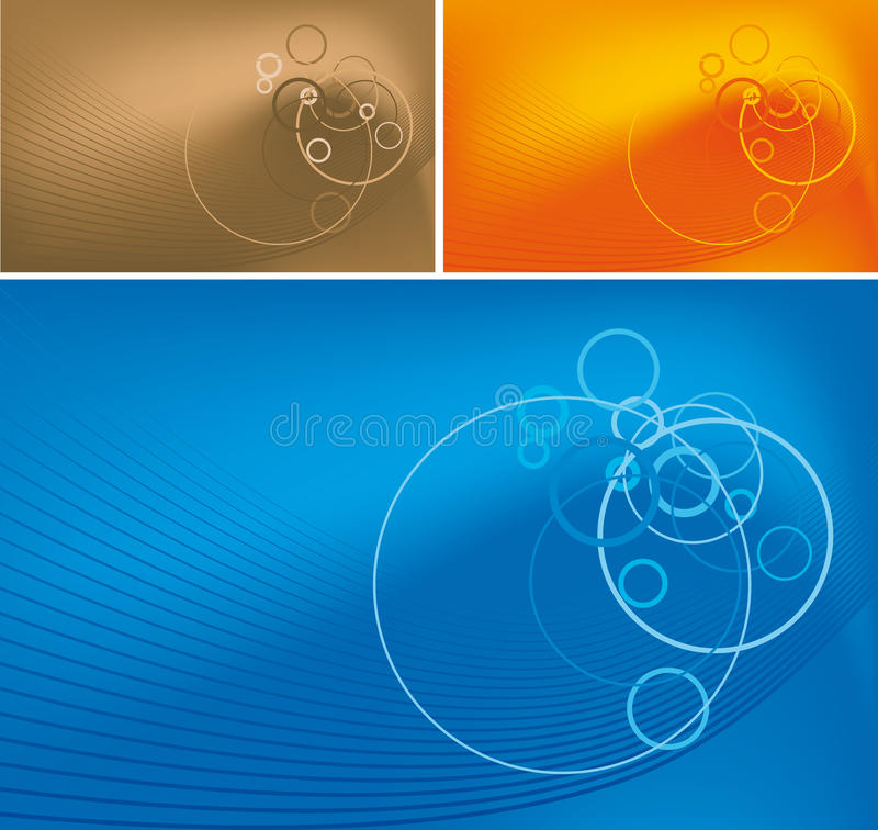 Download Abstract Lines And Circles On Gradient Background Stock Vector - Illustration: 9496430