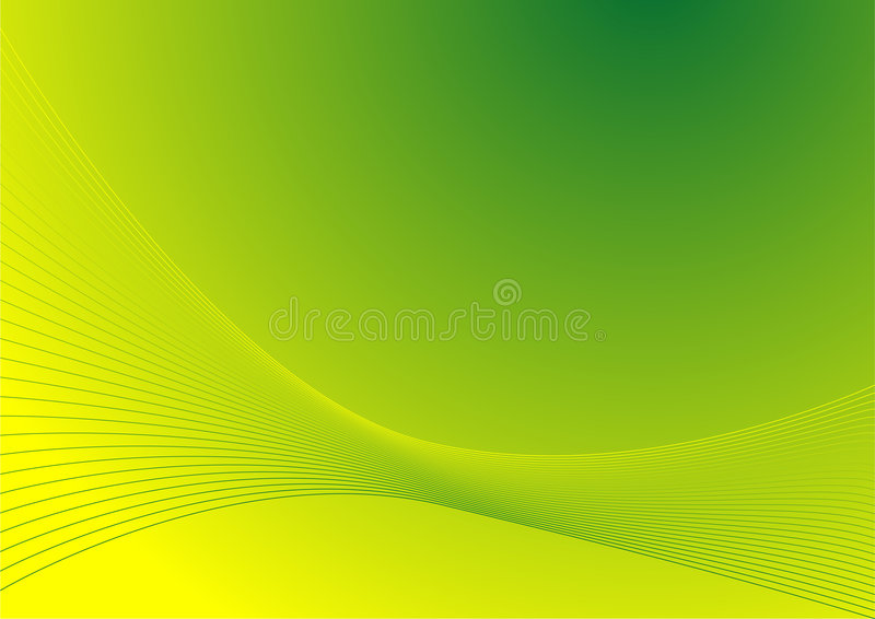 Abstract Lines Green vector illustration