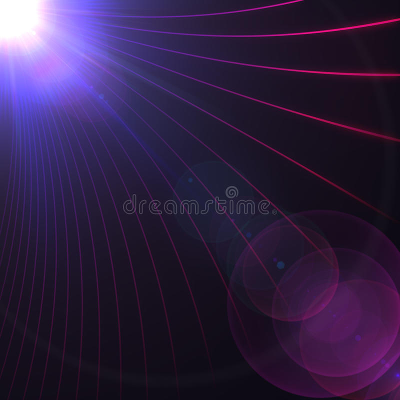 Abstract Lines And Light Flare Royalty Free Stock Photography