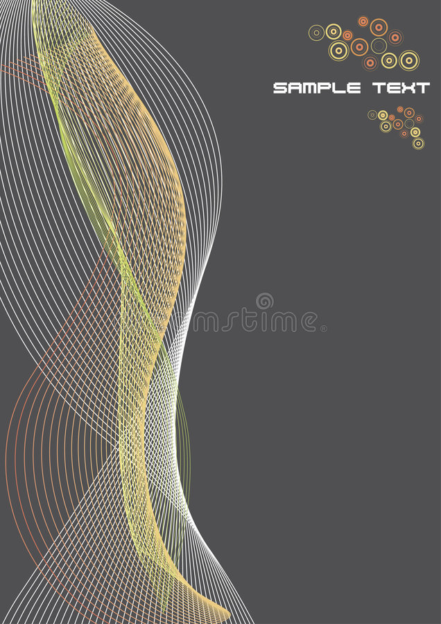 Abstract Lines Paper Template With Sample Stock Photography