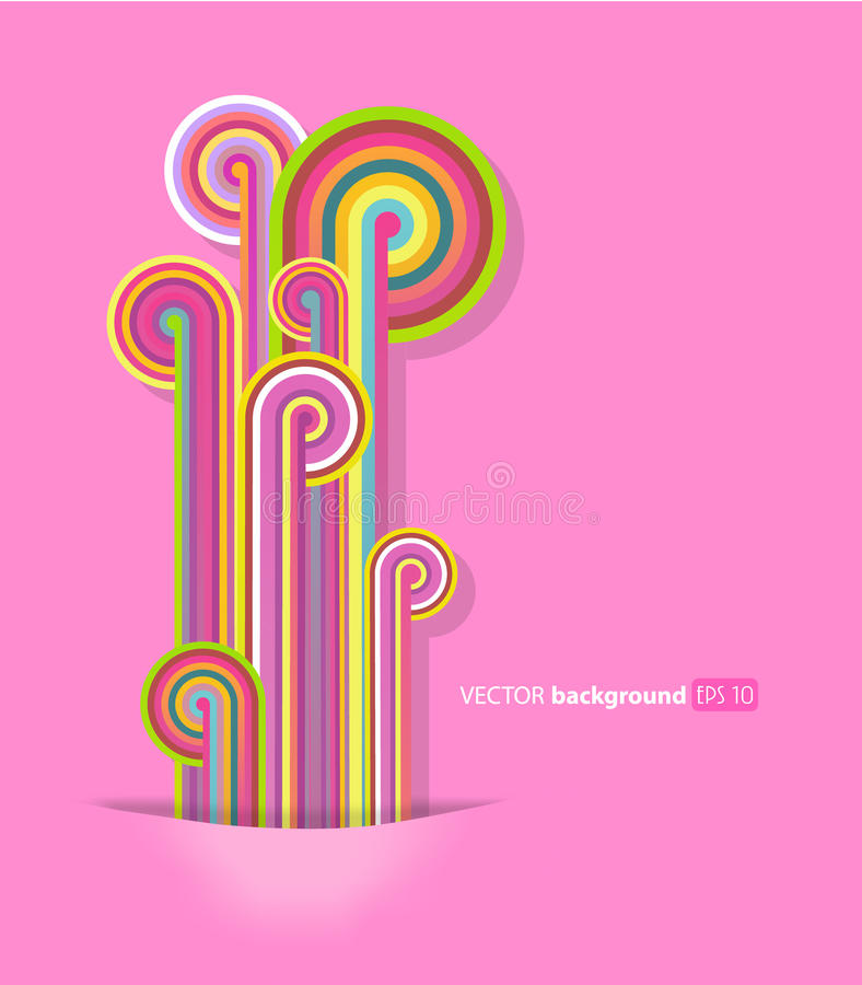 Download Abstract Lines With Pink Background. Royalty Free Stock Image - Image: 20000986