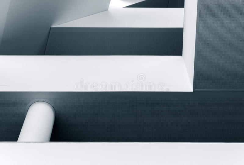 Abstract lines and shapes of modern architecture stock image