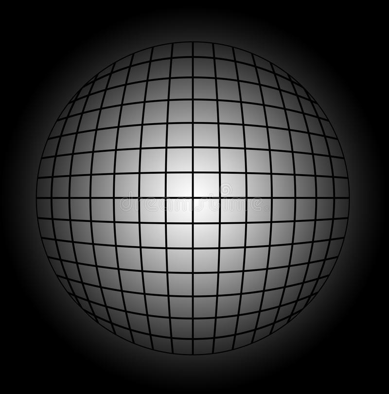 Abstract lines sphere illustration stock image