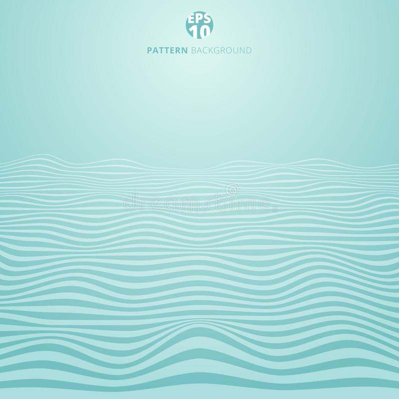 Abstract lines wave on blue background, Wavy stripes pattern, Ro vector illustration