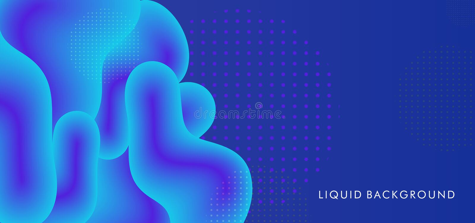 Abstract liquid background with blue colors trendy 3d fluid splash. Vector illustration wave shape cool colors theme stock illustration