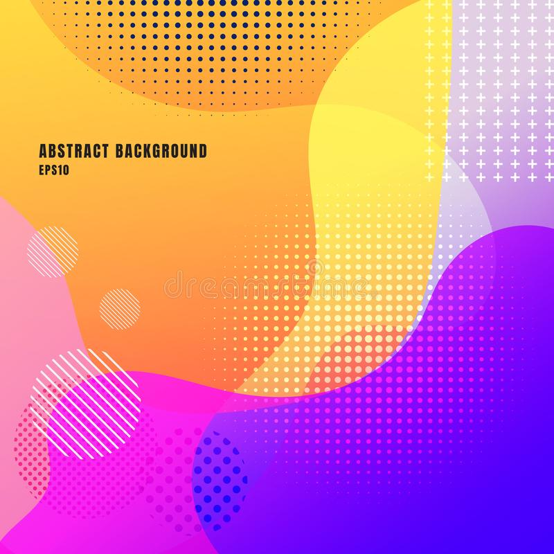 Abstract liquid or fluid creative templates with dynamic waves bright color background. Retro wavy geometric pattern colorful. royalty free illustration