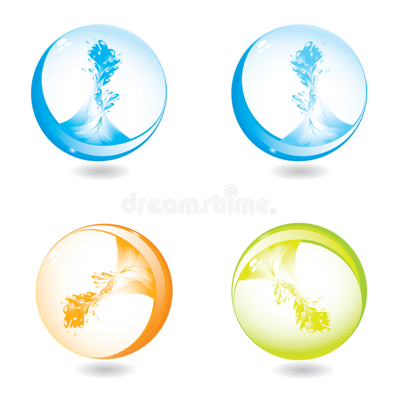 Free Abstract Liquid Splash Spheres Stock Photos - 5247593