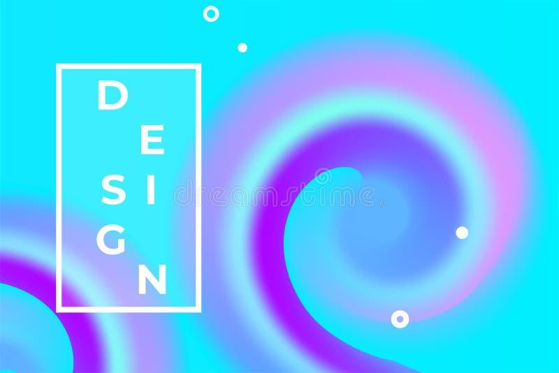 Abstract liquid vector background design. Color fluid ink poster. Flow swirl waves illustration royalty free illustration