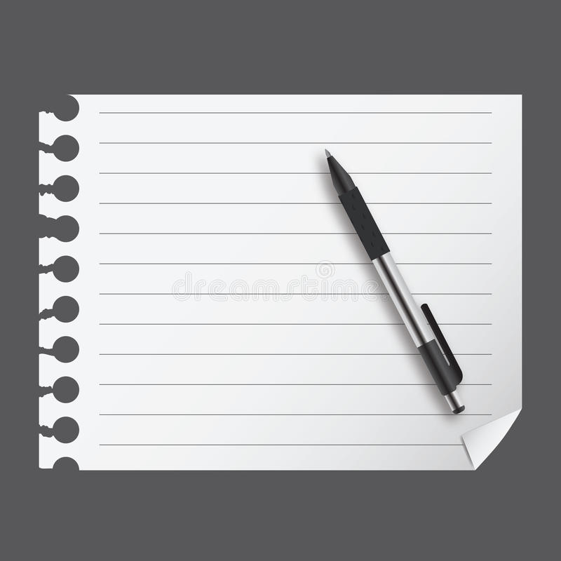 Download Abstract List Blanc With Pen Stock Vector - Image: 23689107
