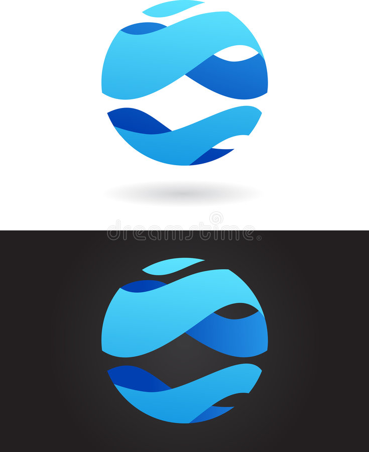 Abstract logo. And icon of globe, vector file. To see similar, please visit MY GALLERY