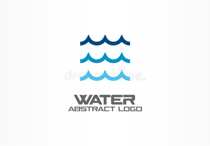 Abstract logo for business company. Eco ocean, nature, whirlpool, spa, aqua swirl Logotype idea. Water wave, spiral vector illustration