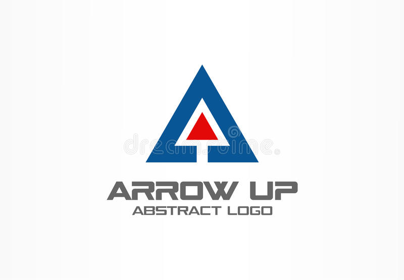 Abstract logo for business company. Technology, Industrial, market logotype idea. Red arrow up, growth chart, progress. Abstract business company logo. Corporate royalty free illustration